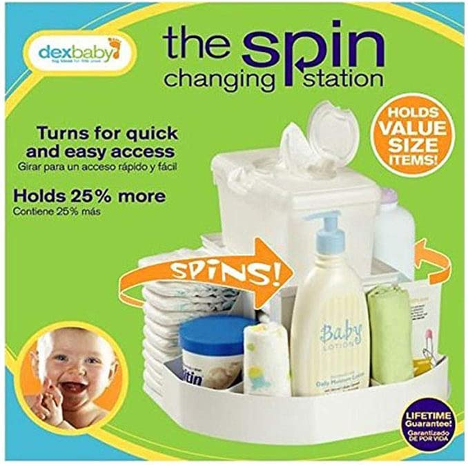 Dexbaby The Spin Diaper Changing Station//Baby Nappy Stacker//Organiser
