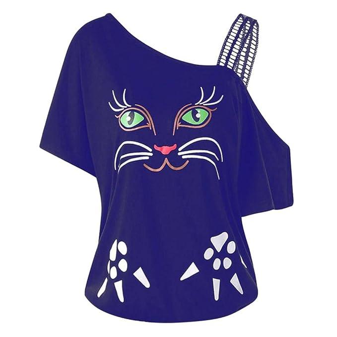 1159300a004ca CICIYONER Blusa sin Hombros Mujer Ropa Mujer Talla Grande Camisetas Hombre   Amazon.es  Ropa y accesorios