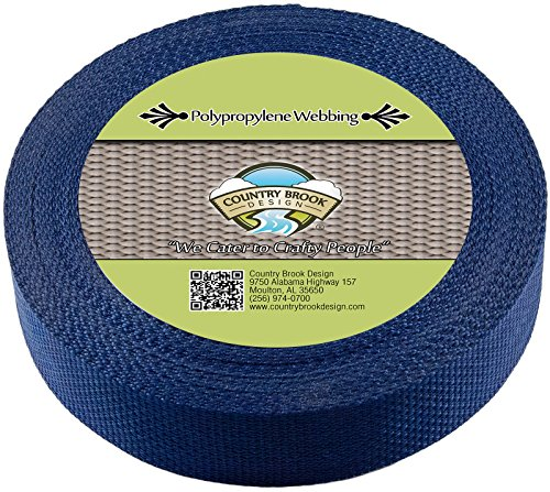 Country Brook 1 1/2 Inch Navy Polypro Webbing, 100 Yards