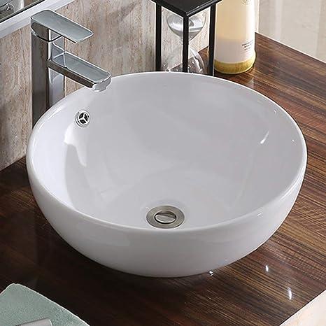Lavandino In Ceramica Cucina.Lavandino In Ceramica Keinode Lavello Rotondo Bianco Moderno