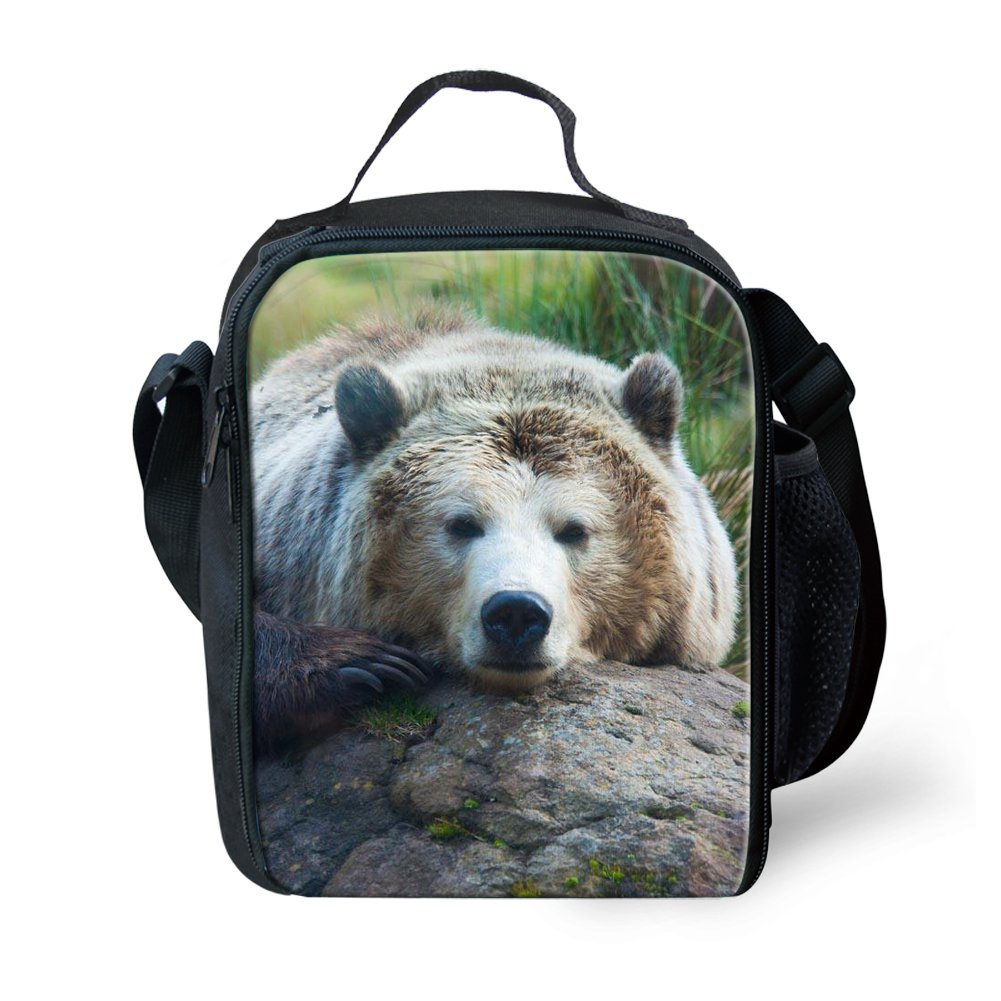 Amzbeauty Panda Lunch Bag for Kids Insulated freezable Thermos Square Lunch Box AMZ-FUD-G2-HBC18154G