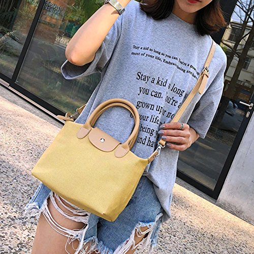 Casual Shoulder Bag Canvas Crossbody Shopping Messenger Ecotrump Women Yellow Handbag Totes fExfzdqI
