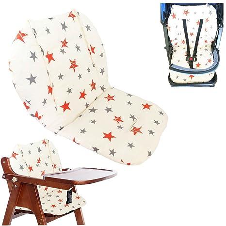 Cojín de la silla alta, Amcho Cochecito de bebé / Trona / Cojín del asiento de coche Película protectora Respirable Cojín de la silla alta impermeable ...