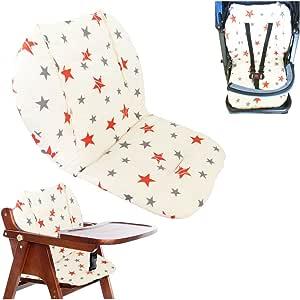 Oferta amazon: Cojín de la silla alta, Amcho Cochecito de bebé / Trona / Cojín del asiento de coche Película protectora Respirable Cojín de la silla alta (Estrella doble)