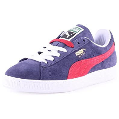 68bf8f1a75d Puma Suede Classic Womens Suede Trainers Blue Red - 3 UK  Amazon.co.uk   Shoes   Bags