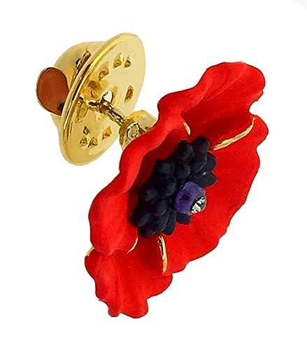 20-badge-16 Pins en forme de coquelicot Id/éal pour comm/émorer le jour du Souvenir