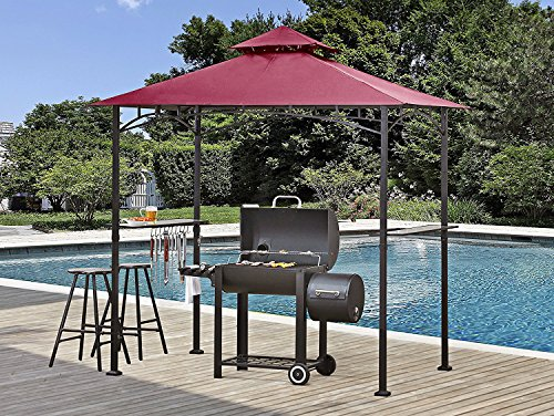 ABCCANOPY 8' X 5' Grill Shelter Replacement Canopy roof for Model L-GZ238PST-11 (Burgundy)