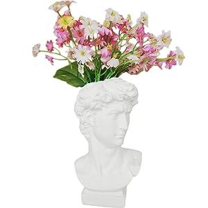 "Creation Core Indoor Outdoor Heads Planter Resin Succulent Planter Vase Greek Statue Planter Urn Home Garden Decor Sculpture 6.7"" H, David"