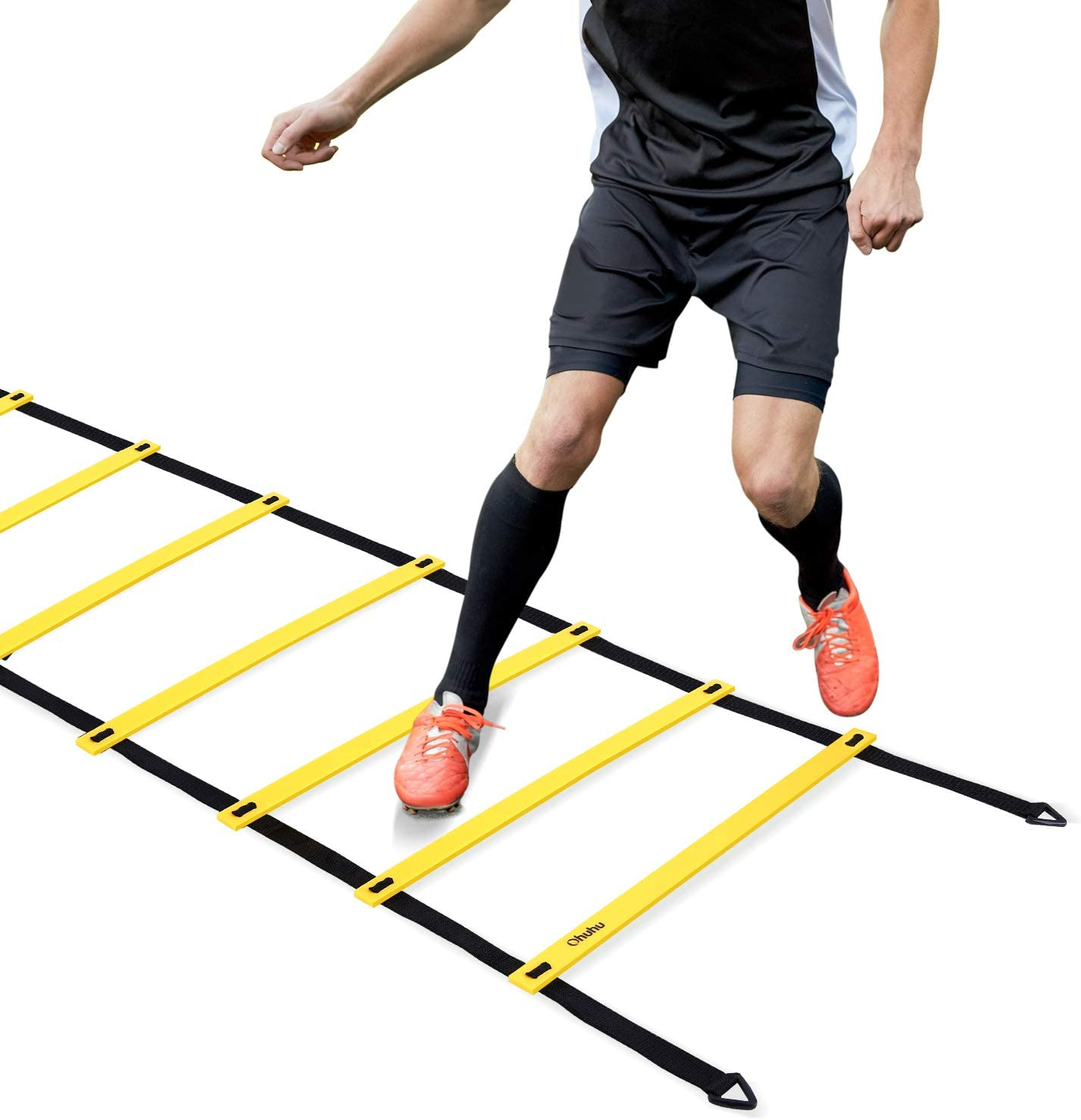 Ohuhu Agility Ladder, Speed Training Exercise Ladders for Soccer Football Boxing Footwork Sports Speed Agility Training with Carry Bag,20ft 12