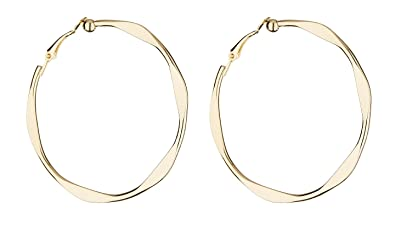 Clip On Hoop Earrings - Gold Plated Hoops - Delia by Bello London zPklRE6