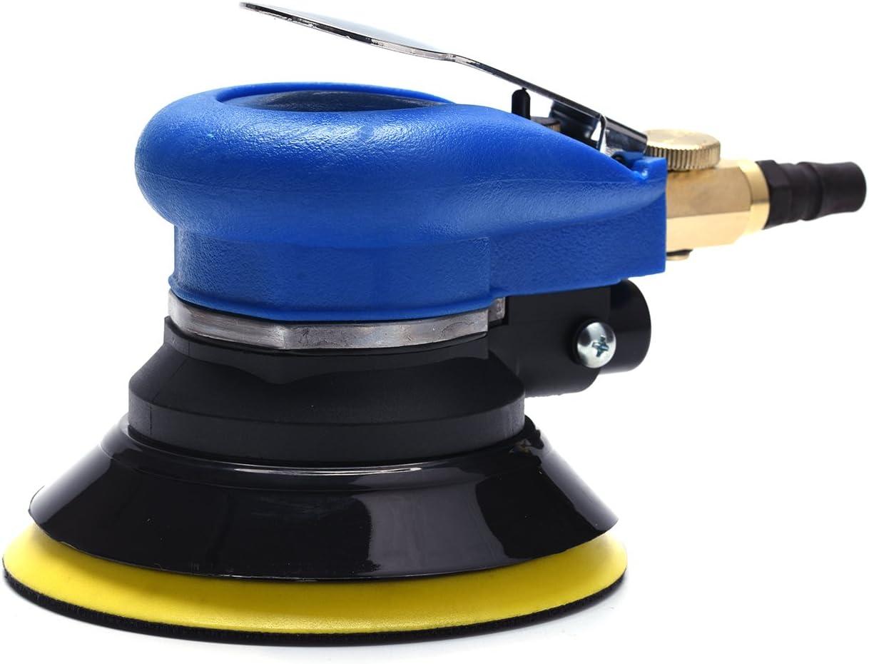 Air Random Orbital Sander 5 Dual Action Palm Sander, Hook and Loop Air Powered and Swirl Free