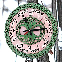 Celtic knots mealtimes Handcrafted wooden wall clock Fork and spoon edition, housewarming, Victorian, gift, wall decor, Anniversary Gift, meal planning, kitchen clocks wall