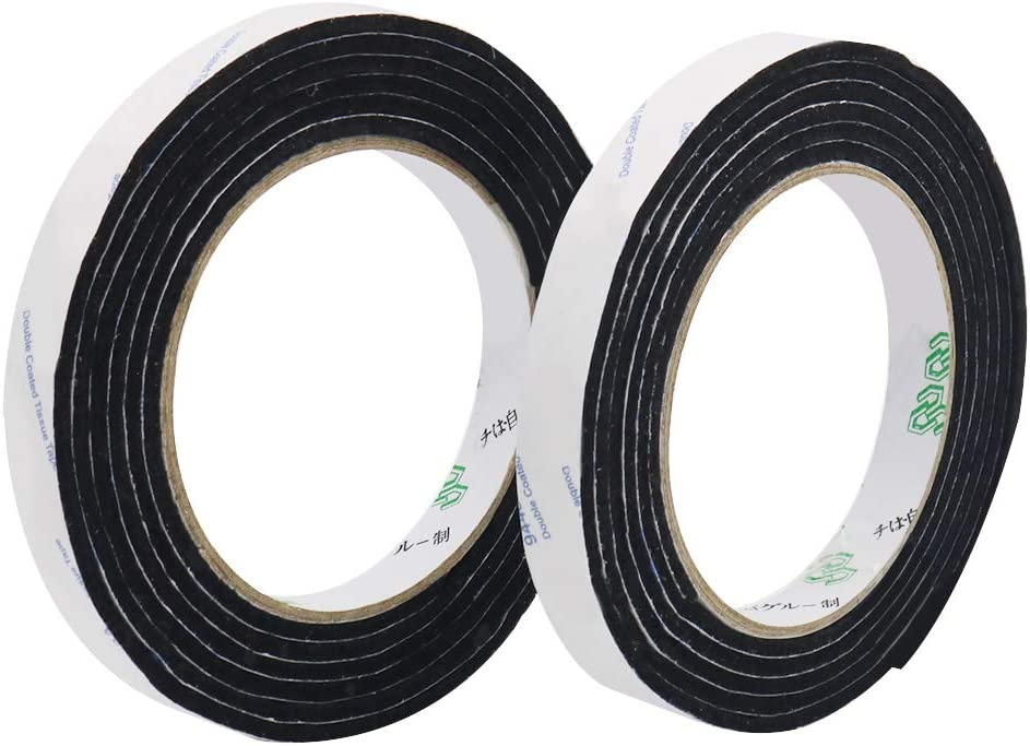 Shintop Felt Tape DIY Adhesive Heavy Duty Felt Strip Roll Cut into Any Shape to Protect Your Hardwood and Laminate Flooring, 0.5 x 59 Inches (Pack of 2, Black)