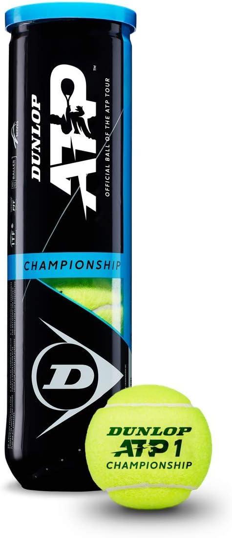 Dunlop STP Tenis ATP Championship Bote 4, Adultos Unisex, Amarillo, 4 Pelotas