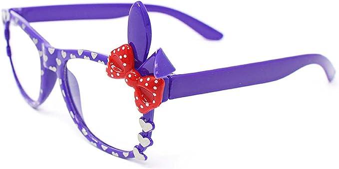 UltraByEasyPeasyStore Púrpura Disfraz Gafas Lentes Claros con Lazo ...