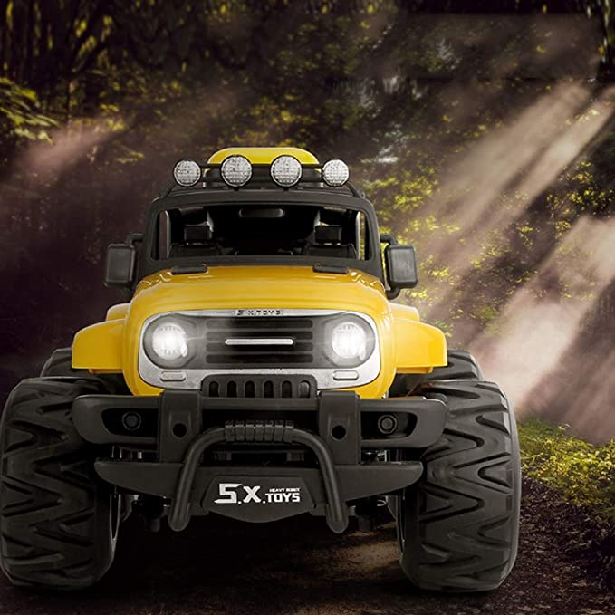 Tracción en las cuatro ruedas Todoterreno inalámbrico remoto Juguete para automóvil, vehículo de escalada resistente a 4x4 Vehículo todo terreno recargable ...