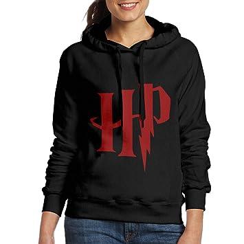 Harry Potter - HP logo sudadera con capucha sudadera con capucha sudadera negro de la mujer, M, Negro: Amazon.es: Deportes y aire libre