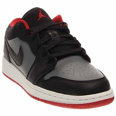 Nike Jungen Air Jordan 1 Low BG Turnschuhe, Rot/Grau ...