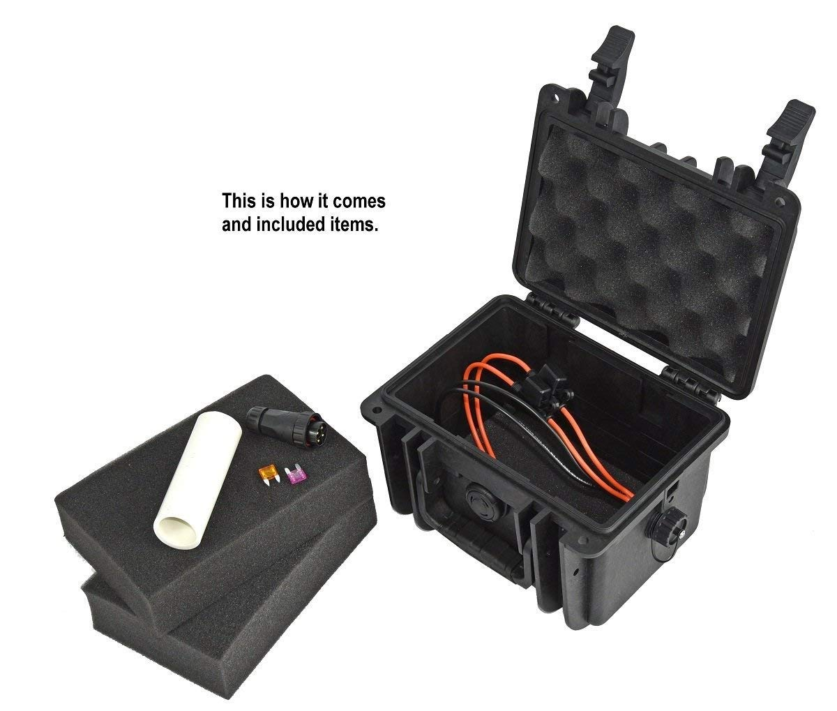 Elephant K100 Custom Made Kayak Battery Box Waterproof Wiring Diagram Floating Case For Powering Gps Fish Finders Led Lights And Much More Sports