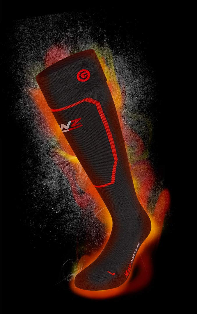 Lithium rcB 1200 Pack Lenz Heat 5.0 Toe cap Slim Fit Socken Black//Red//Grey 2019 INKL