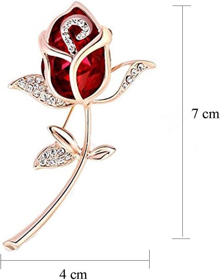 Broche Broche Broche Insigne v/êtements Bijoux Cadeau pour Les Femmes,Blanc Yinew Cristal Fleur Papillon Broche