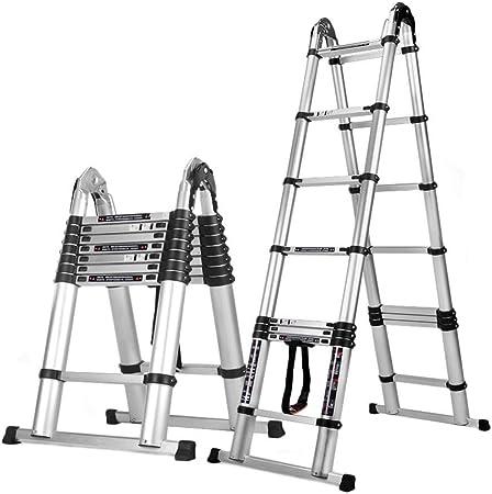 XYQB Escalera Telescópica de Aleación de Aluminio Tipo A, Escalera Profesional Extendida Profesional de Uso Pesado 330 lbs Capacidad Máxima 1.6M + 1.6M (10 Pies): Amazon.es: Hogar