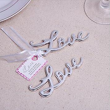 Love Antique Bottle Opener For Wedding Favor 100, Silver
