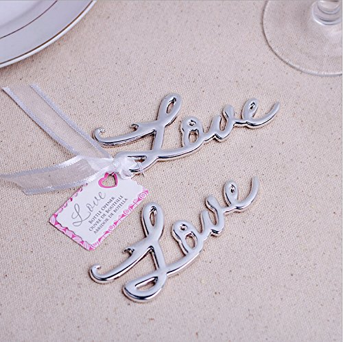 Love Antique Bottle Opener For Wedding Favor (100, Silver) (Wedding Antique Favors)
