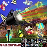 ACCTENIK Projector Light LED Landscape Lights Waterproof Rotating Spotlight With 12 Different Slides Show for Home Decoration, Party, Festival Together, Holiday, Celebrations