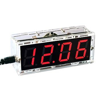 KKmoon 51 Microcomputadora de un solo chip Control de luz LED Pantalla digital Kit de fabricación de reloj electrónico Accesorios de fabricación DIY: ...