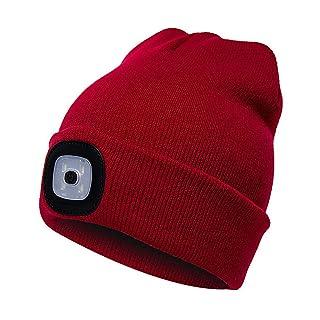 Faraw LED Beanie Hat,Ricaricabile Unisex LED Cappello a Maglia per attività all'aperto Natale Ricaricabile Unisex LED Cappello a Maglia per attività all'aperto Natale