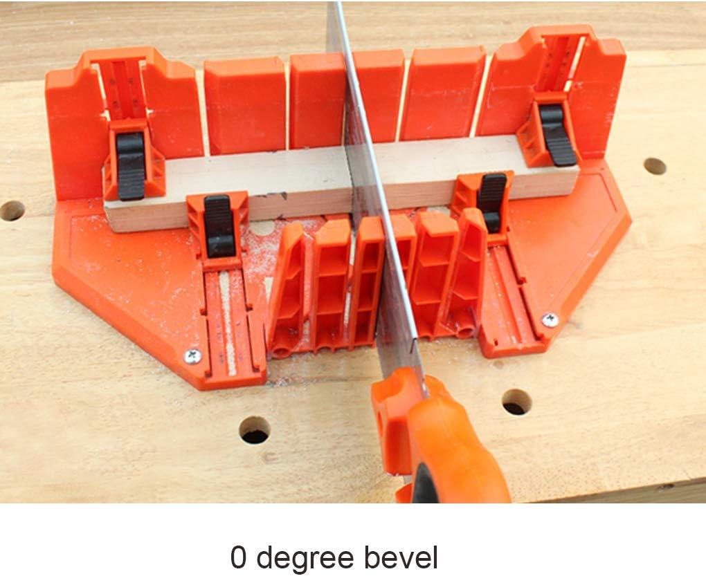 Serrage Scie /à onglets Bo/îte 14 Pouces bo/îte en Plastique /à Bois scie /à Dos Bois Double Face Dents 90 /° 45 /° Angle Types de Fente de scie Bo/îte