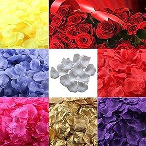 CHoppyWAVE 100/200Pcs Artificial Rose Flower Petal Confetti Wedding Party Stage Prop Decor - Pink 200 22
