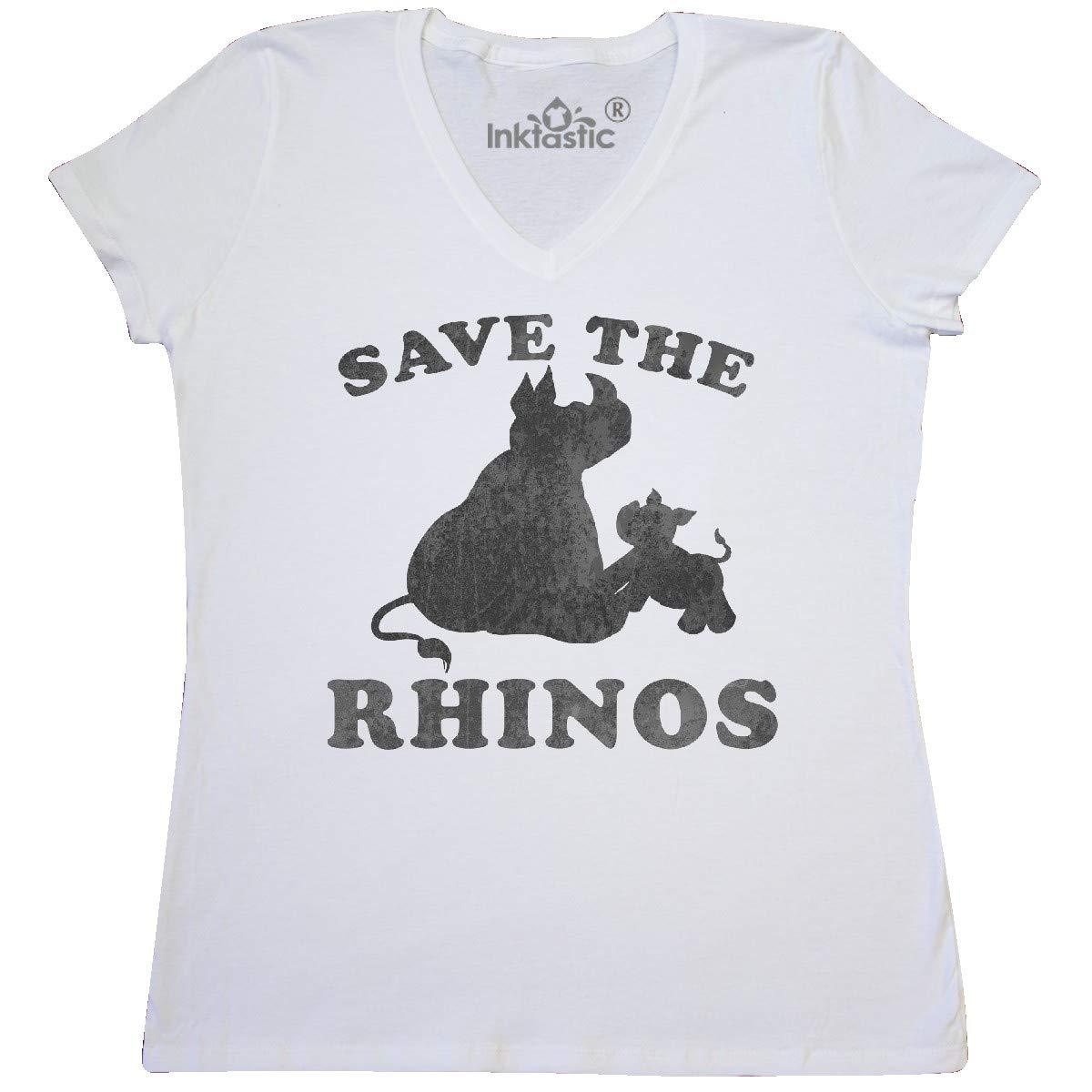 Inktastic Save The Rhinos With Cute Rhinos Women S Shirts