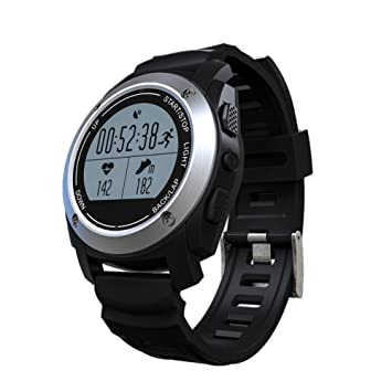 TECKEY S928 Reloj Inteligente Deportivo Profesional, Relojes de los Deportes al Aire Libre Presión Atmosférica, Temperatura, Altura, Frecuencia Cardíaca ...