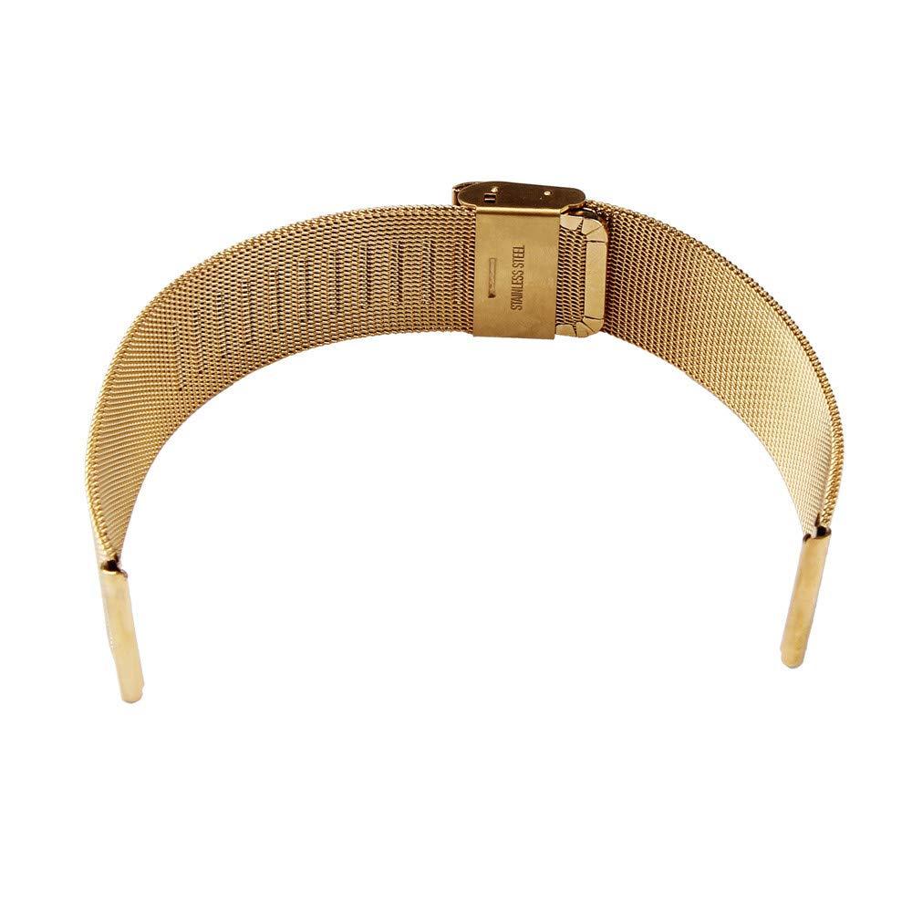 Bestow Relojes de Pulsera Correa de Reloj de Malla de Acero Inoxidable Milan(Oro): Amazon.es: Ropa y accesorios
