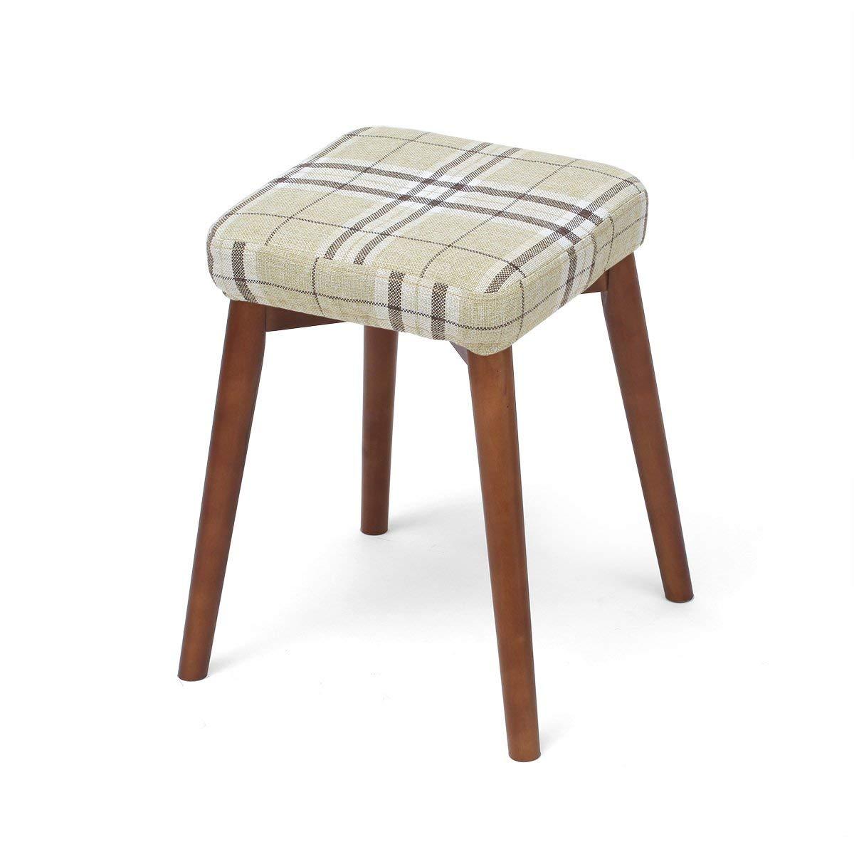 Comfortable Lounge Chair Fashion Creative Solid Wood Makeup Stool Home Stool