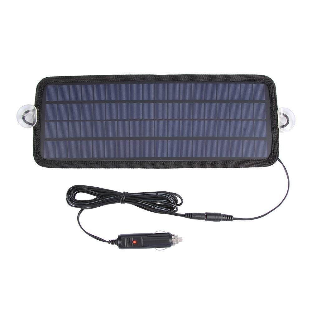 Solar Car Battery Charger, 18V 4.5W Solar Panel Car Battery Charger Maintainer for 12V Motorcycle Boat Childplaymate