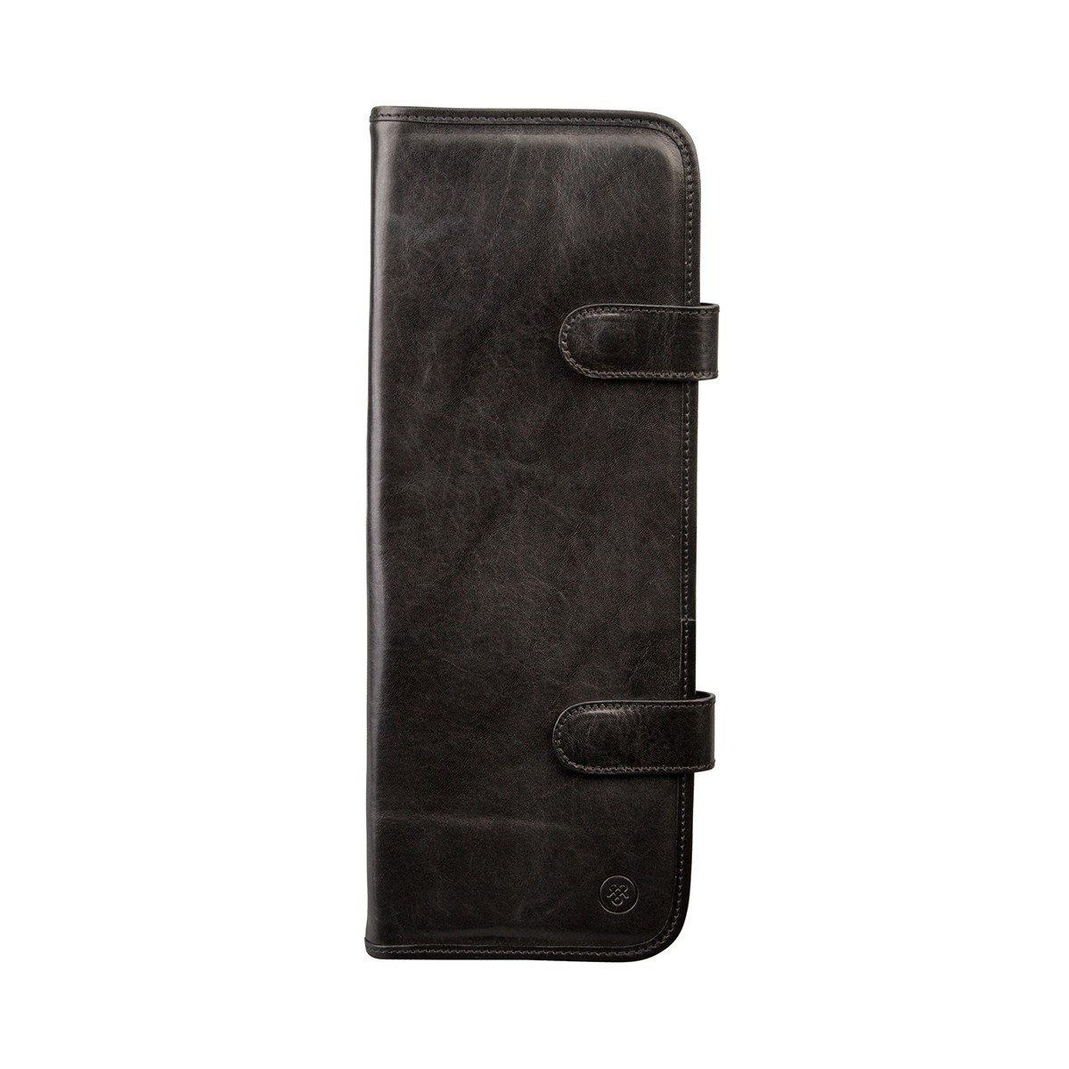 Maxwell Scott Luxury Italian Leather Tie Travel Case, Night Black (Tivoli) by Maxwell Scott Bags