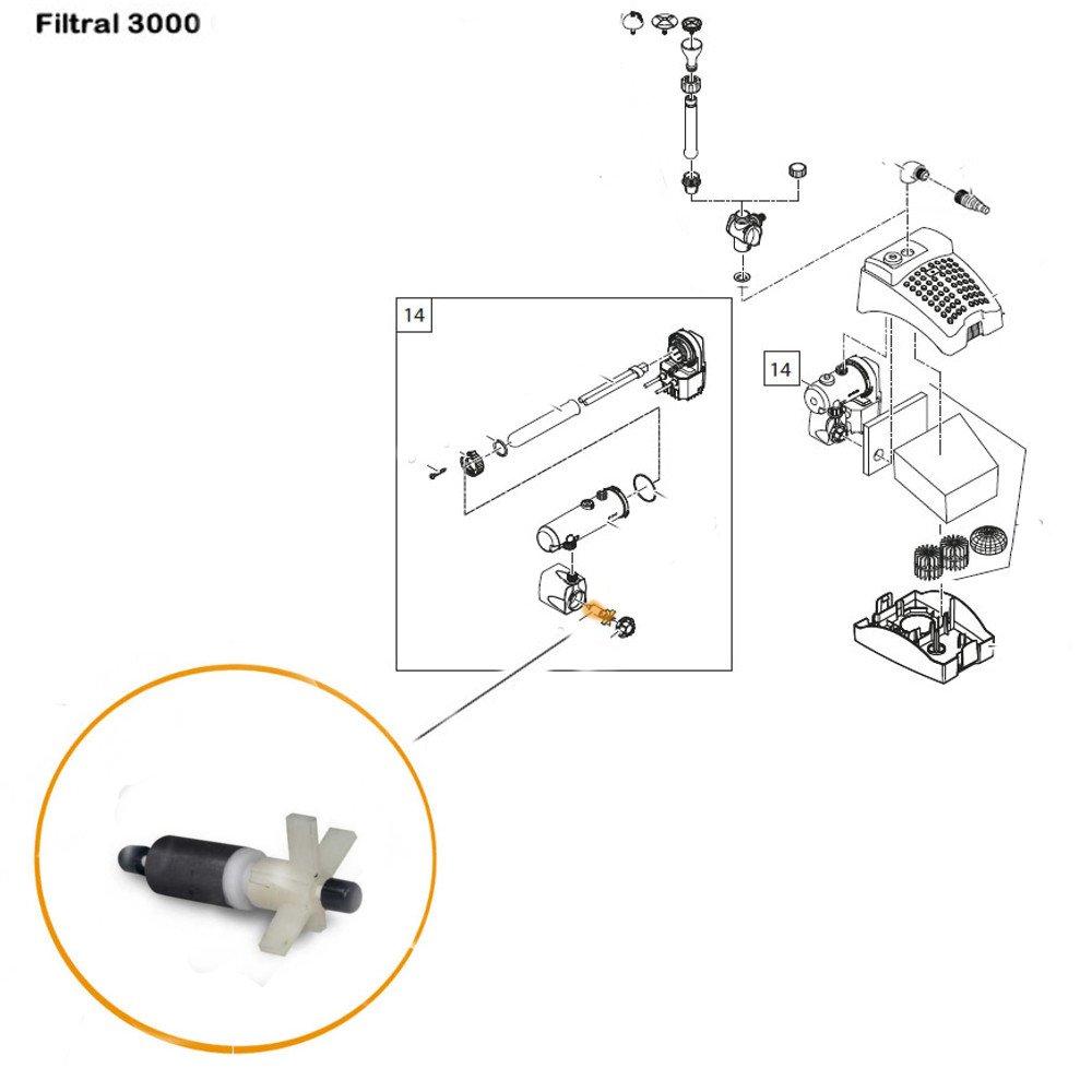 Replacement Impeller Oase Aquarius Fountain Pump 1000 Part 28351