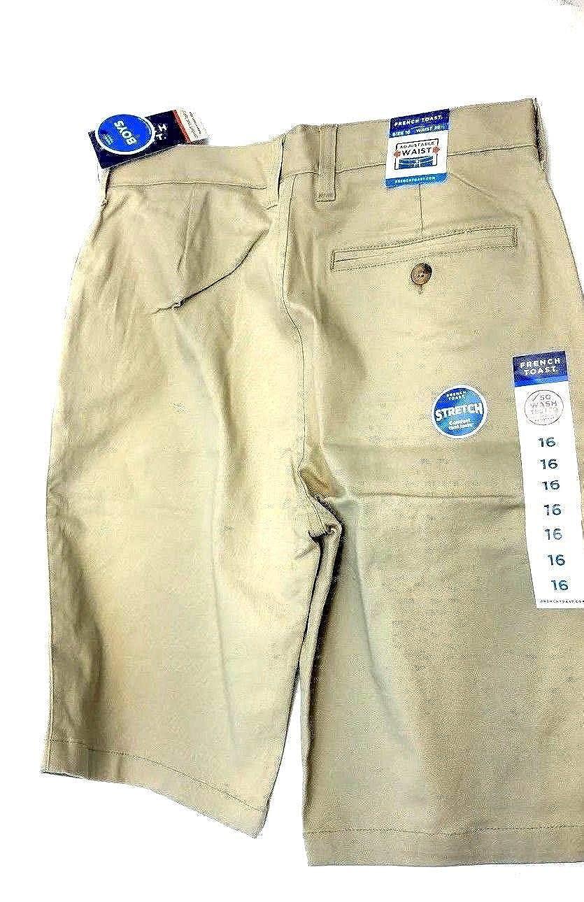 Khaki 16 French Toast Boys Straight Fit School Shorts Adjustable Waist