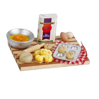 1/12 Casa De Muñecas Huevos Comida Cocina En Miniatura Leche Pan En La Tabla 1 Juego: Juguetes y juegos