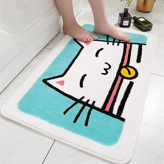 Alfombrillas de baño Alfombra Antideslizante de Microfibra Shag ...
