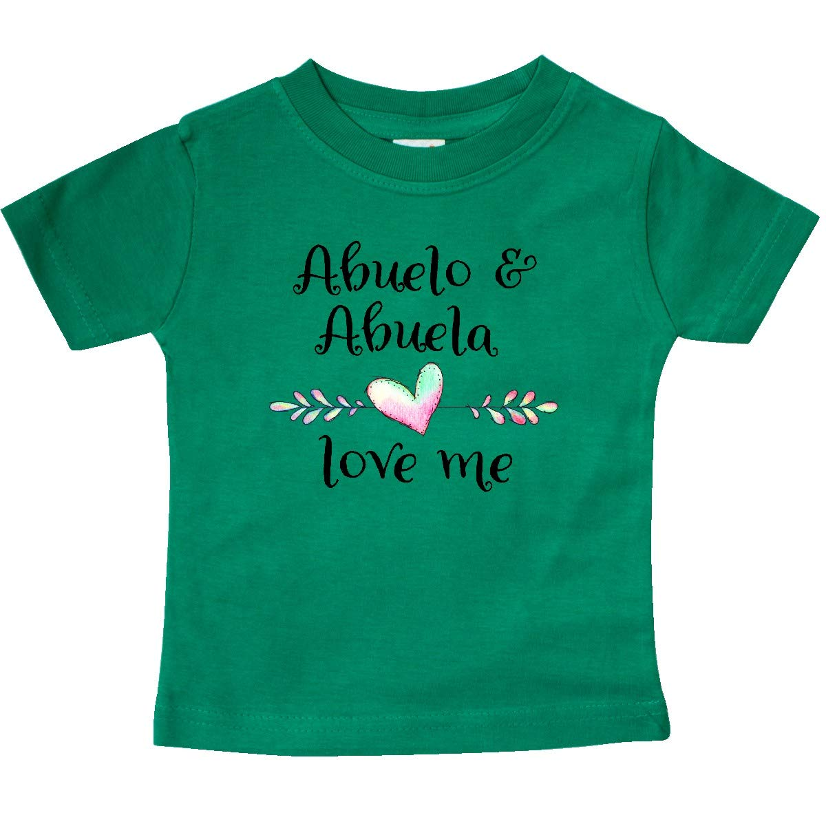 Heart Grandchild Baby T-Shirt inktastic Abuelo and Abuela Love Me