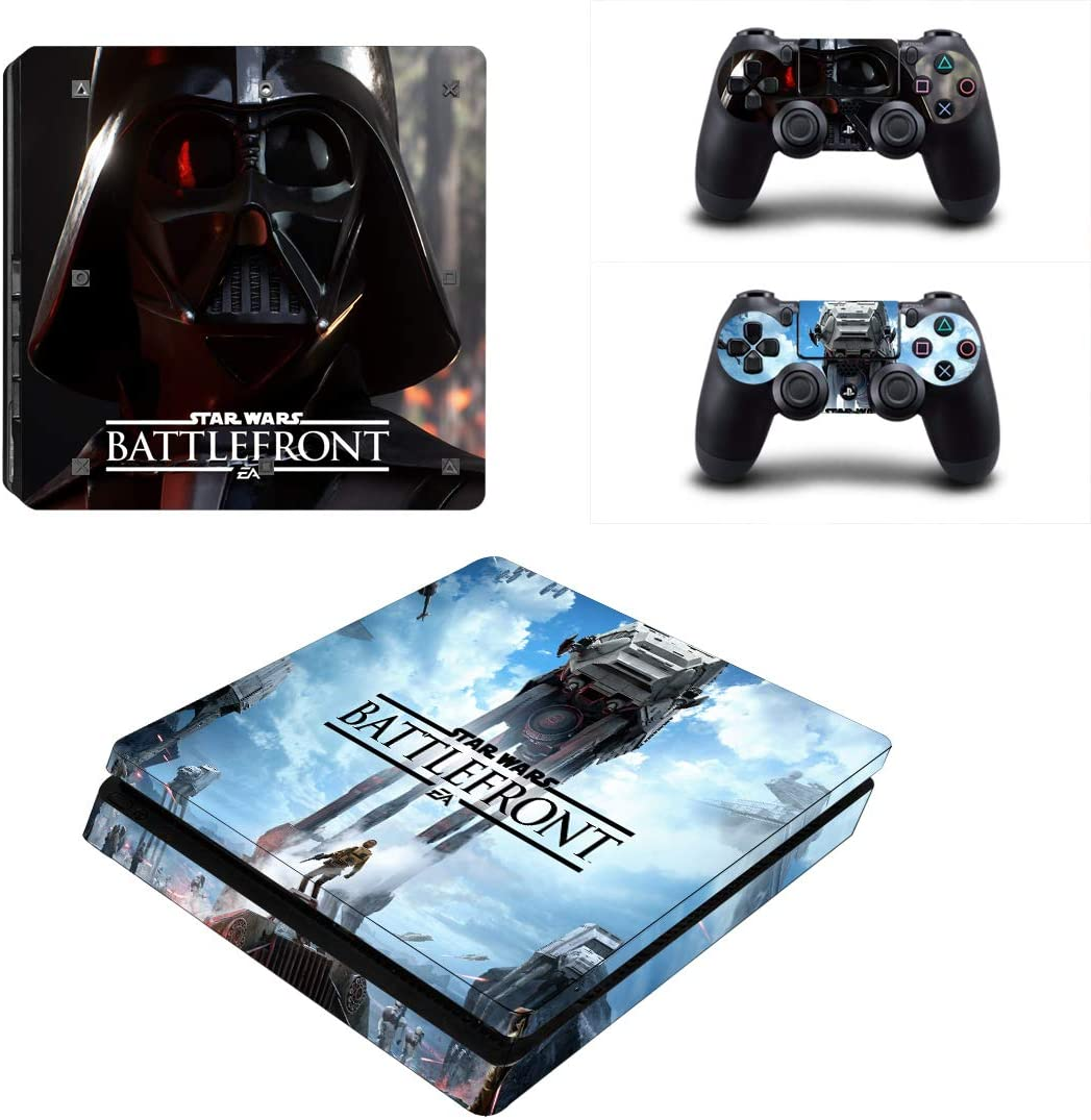thtb Playstation 4 Slim + 2 controlador Diseño Sticker Protector Juego – Star Wars Battlefront (2)/PS4 S: Amazon.es: Videojuegos