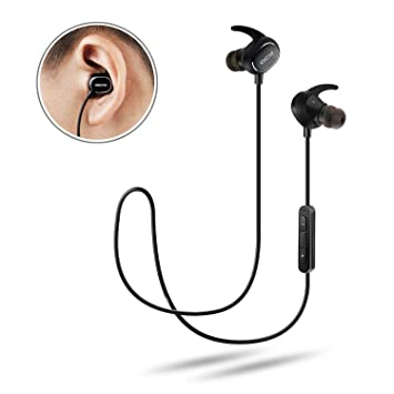 Bluetooth Headphone Noise Cancelling Wireless Sports Headset - QY19 Waterproof Earbuds Earphones with Mic, Ultra