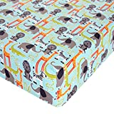 Glenna Jean Jungle Babies Crib Sheet Fitted 28''x52''x8'' Nursery Standard
