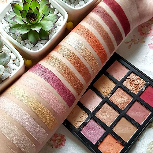 Eyeshadow Makeup Palette, Shimmer + Matte 12 Colors - Highly Pigmented - Nude Warm Natural Eye Shadow Powder Waterproof Eye Shadows Set