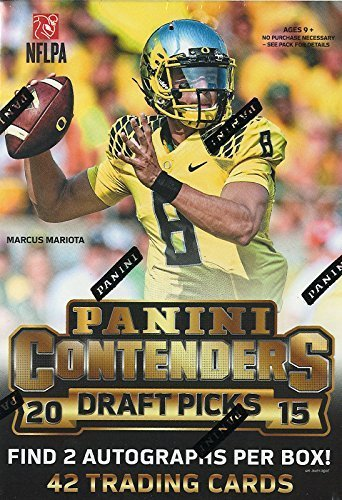 2015 Panini Contenders NFL Draft Picks Football Unopened Blaster Box of Packs with 2 Guaranteed Autographs Per Box Try for Marcus Mariota Jameis Winston Tom Brady and Others