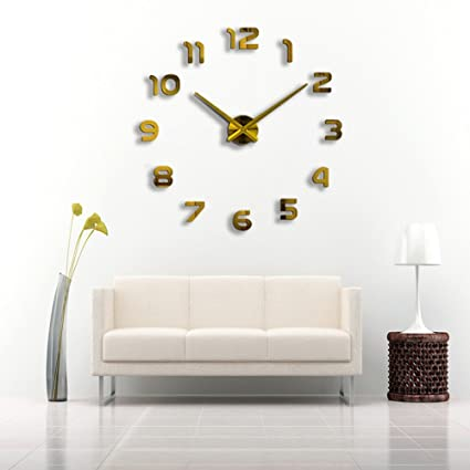 Just_for you - 3D DIY Wall Clock Modern Design Saat Reloj De Pared Metal, Art